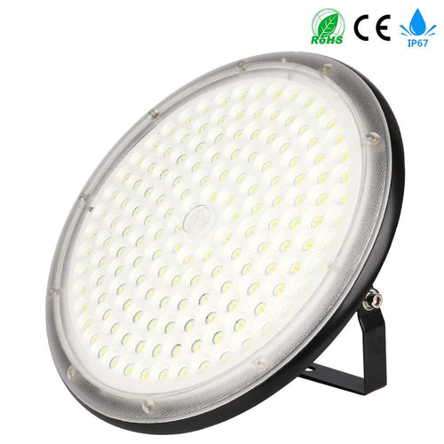 150W LED High Bay Lighting,UFO High Light 15000LM,Daylight White (6500K) Commercial Industrial Chandelier for Garage Warehouse Workshop Gymnasium Basement Parking Commercial Premises, IP67 Waterproof