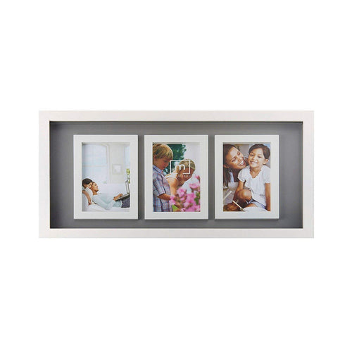 MELANNCO Distressed Empty Frame, Black, Set of 6
