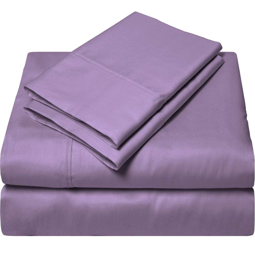 Twin XL Egyptian Cotton 300 Thread Count Sheet Set, Size Twin Extra Long (Lavender)