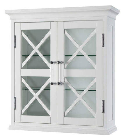 Elegant Home Fashions Blue Ridge 2-Door Wall Cabinet in White