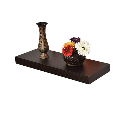 "WELLAND 2"" Thickness Mission Floating Wall Shelf,approx 24-inch Length, Espresso"