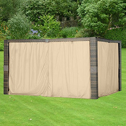 Garden Winds LCM1355B Replacement Gazebo Curtain, Beige