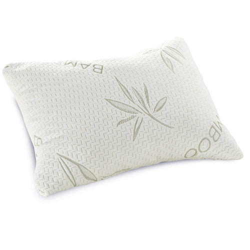 Classic Brands Shredded Memory Foam Pillow with Bamboo-Rayon Cover, Queen