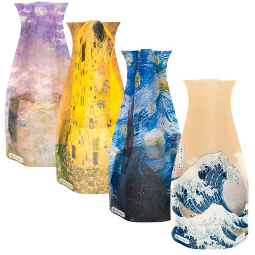 Lilies- Van Gogh, Klimt, Hokusai, Monet -Durable, Safe, NOT GLASS, Great for Any Celebration