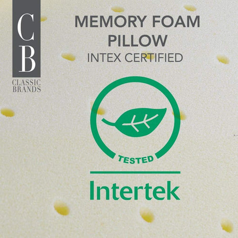 Classic Brands Conforma Ventilated Memory Foam Cushion Firm Pillow, Queen