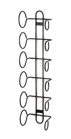 Spectrum Diversified Wine Rack, Wall Mount, 6-Bottle, Black