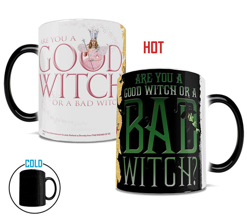 Morphing Mugs Wizard of Oz (Good Witch Bad Witch) Ceramic Mug, Black