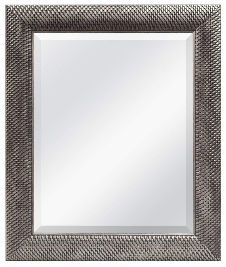 MCS 16x20 Inch Wall Mirror, 22x28 Inch Overall Size, Antique Silver (47692)