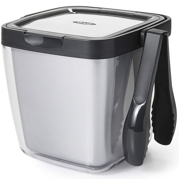 OXO Good Grips Double Wall Ice Bucket with Tongs and Garnish Tray