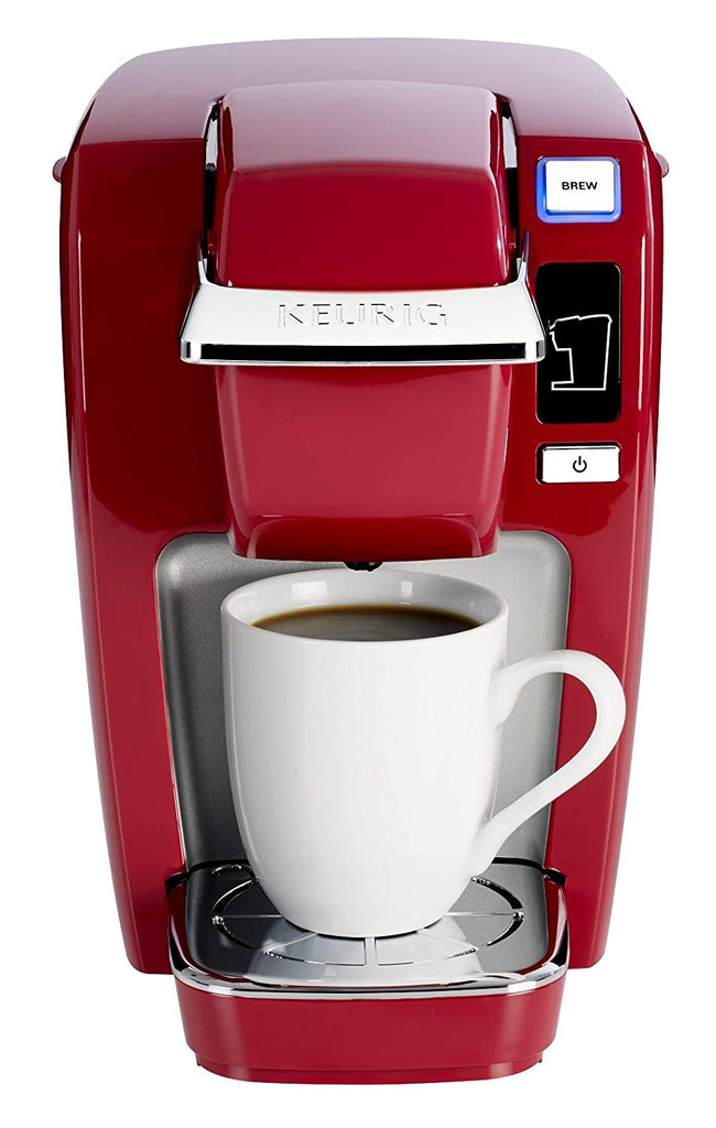 Keurig K15 Single Serve Compact K-Cup Pod Coffee Maker, Red