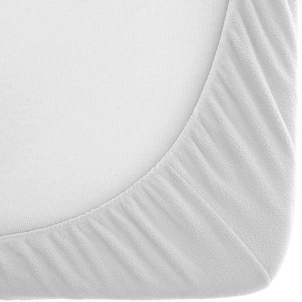 Bare Home Fleece Fitted Bottom Sheet Hypoallergenic Deep Pocket Ultra Soft White Twin Xl 1 Piece