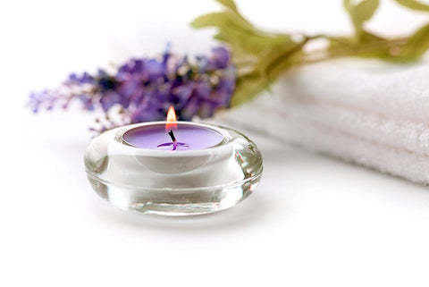 Candle Charisma Tealights Lavender Scented Candles - 30 Pack - Made in USA (Purple Lavender)