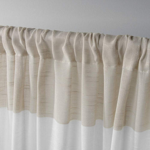 Exclusive Home Darma Sheer Linen Window Curtain Panel Pair with Rod Pocket 50x84 Linen 2 Piece