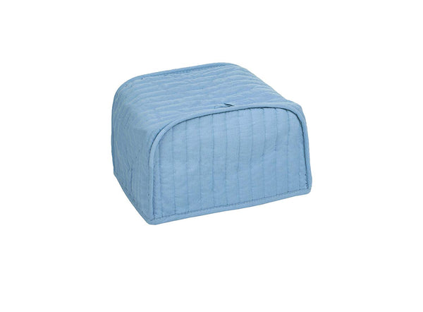Ritz Polyester/Cotton Quilted Two Slice Toaster Appliance Cover, Dust and Fingerprint Protection, Machine Washable, Light Blue