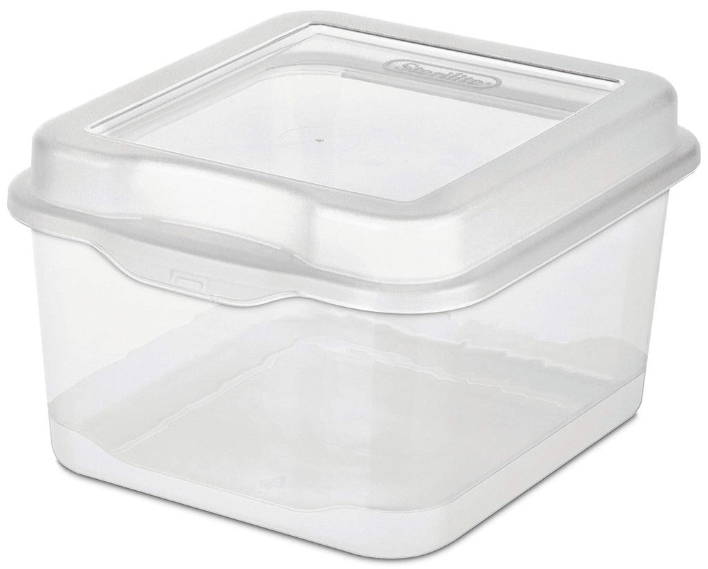 Sterilite 18038612 Small Clear Flip Top Storage Box