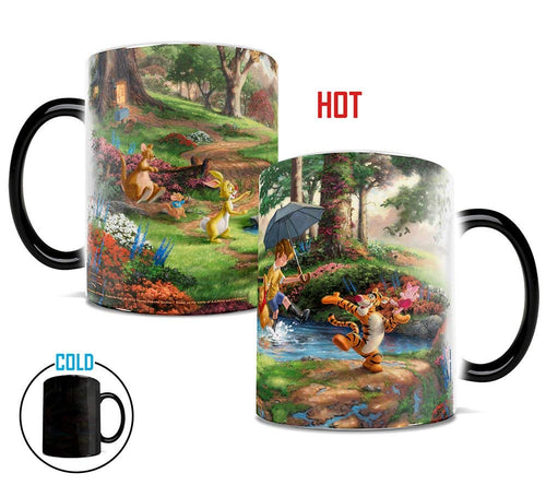 Morphing Mugs Thomas Kinkade Disney's Winnie the Pooh Painting Heat Reveal Ceramic Coffee Mug - 11 Ounces