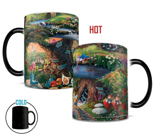 Morphing Mugs Thomas Kinkade Disney's Alice in Wonderland Painting Heat Reveal Ceramic Coffee Mug - 11 Ounces