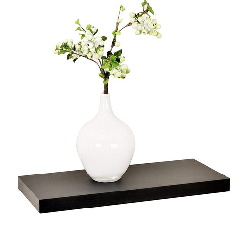 WELLAND Simons Floating Wall Shelf Ledge Shelves, 18-Inch, Black