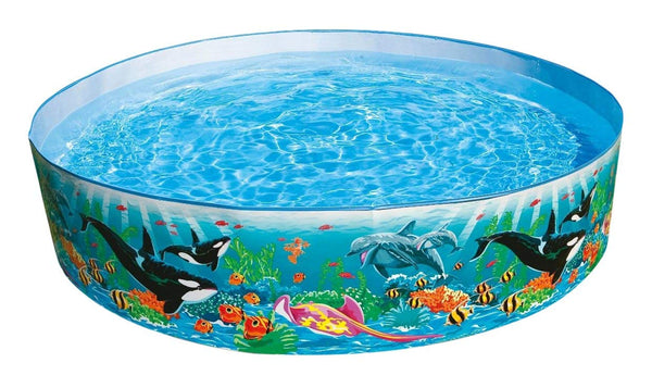 "Intex Round 15"" Deep Color Reef Snapset Pool"