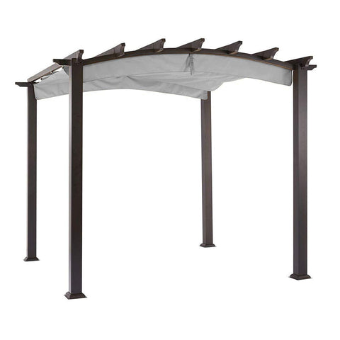 Garden Winds Replacement Canopy Top Cover for Hampton Bay Arched Pergola - RipLock 350 - Slate Gray