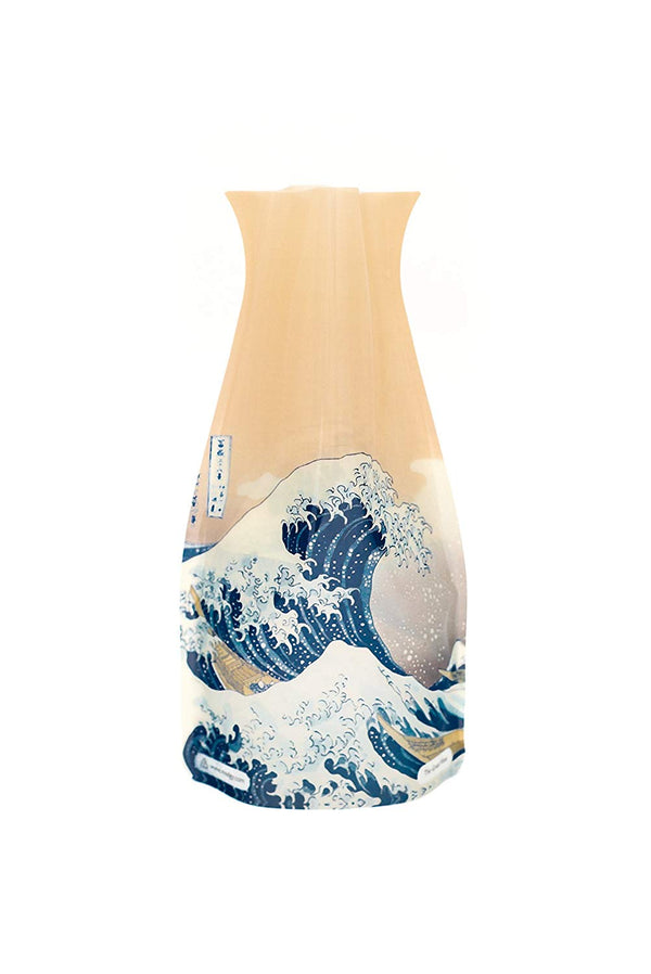 MODGY Collapsible & Expandable Plastic Vase - NOT GLASS (The Great Wave)