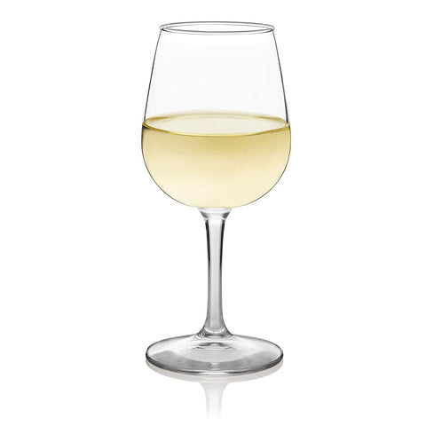 Libbey Wine Party Stemware Wine Glasses, Set of 12