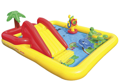 "HJHFKGLG Ocean Inflatable Play Center, 100"" X 77"" X 31"", for Ages 2+"