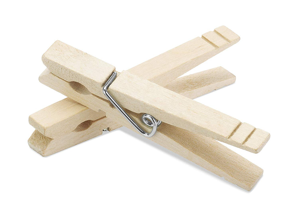 Whitmor Natural Wood Clothespins, S/100
