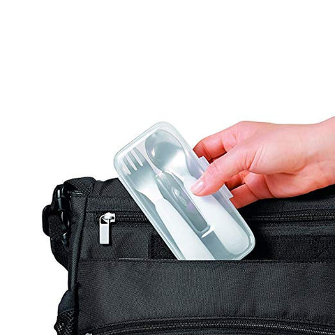 OXO Tot On-The-Go Fork & Spoon Set with Carrying Case
