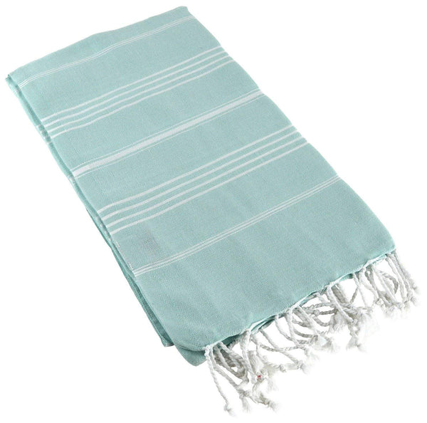 "Paramus Turkish Towel Peshtemal in 100% Cotton for Beach Bath Swimming Pool Yoga Pilates Picnic Blanket Scarf Wrap Hammam Fouta Turkish Bath Towels Beach Towel (37x""70) (aqua)"