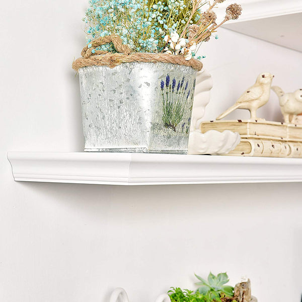 WELLAND Floating Shelves White Floating Shelves White Deep, Floating Shelves White 24