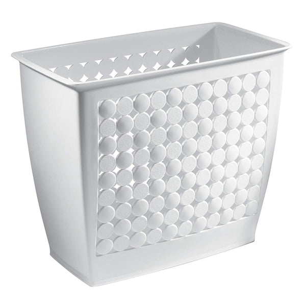InterDesign Orbz Wastebasket Trash Can for Bathroom, Office, Kitchen - White