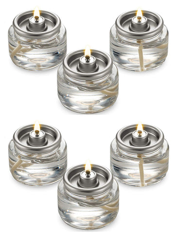 Tealight Fuel Cells Liquid Oil Paraffin Candles Small 8 Hour Burn - in a Box - 20 Pack - Disposable