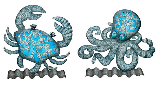 Regal Art & Gift Table or Wall Decor - Crab & Octopus