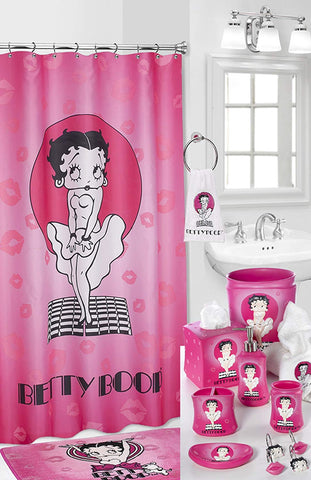 Popular Bath Betty Boop Fabric Shower Curtain