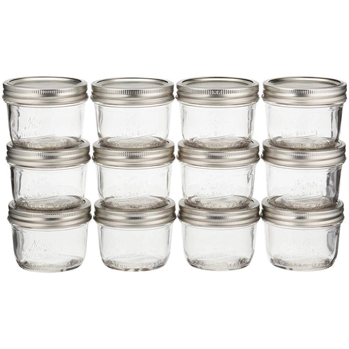 Kerr Mason Jars Half Pint 8 Oz Wide Mouth 12/Box Pack Of 2
