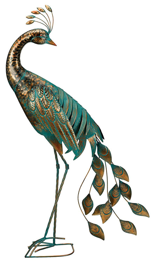 Regal Art & Gift Preening Patina Peacock Decor, 40""
