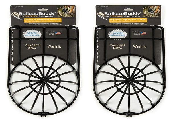 BallcapBuddy Original Cap Washer Hat Washer Baseball Cap Cleaner BLACK 2-pack Now Endorsed by SHARK TANK