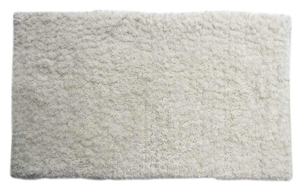 "Chardin home - Bliss Micro Shag Rug, 24""x40"" Soft & Highly Absorbent mat, Machine Washable, Cream"