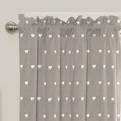 Eclipse Kids 15939042X063GRE Peanut Pals 42-inch by 63-inch Single Window Curtain Panel, Grey