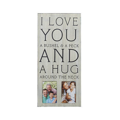 MELANNCO 2-Opening Sentiment Collage Frame (11 x 24-Inch)