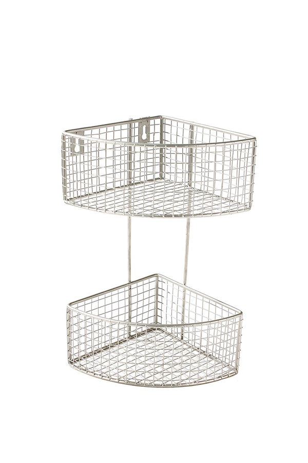 Spectrum Diversified 2-Tier Corner Basket, Satin Nickel