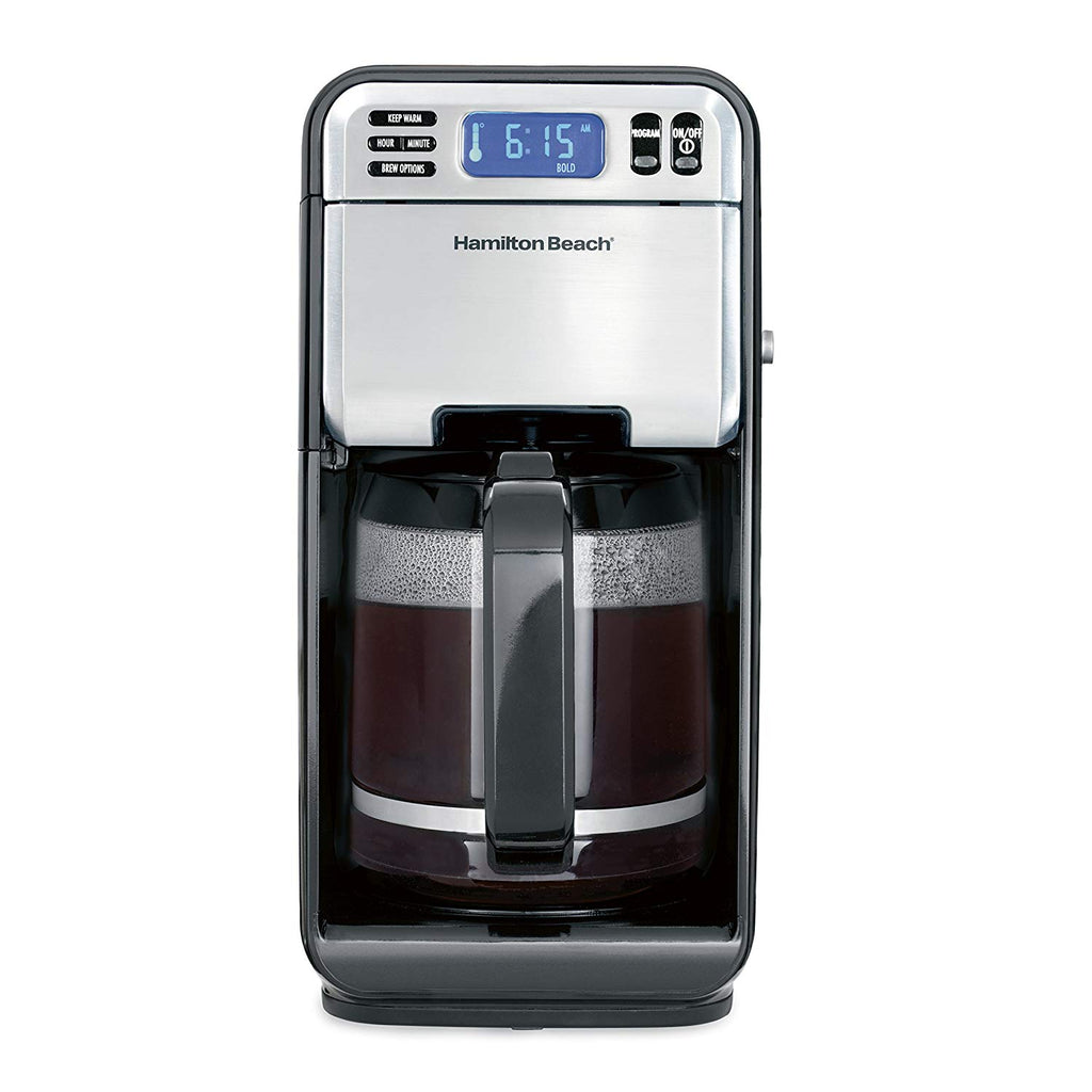 Coffee Maker, Programmable with 12 Cup Capacity, Stainless Steel