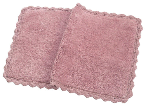 Chardin Home - 100% Pure Cotton - Crochet Bath Rug , 21''x34'' Mat with Latex spray non-skid backing, Pink rose