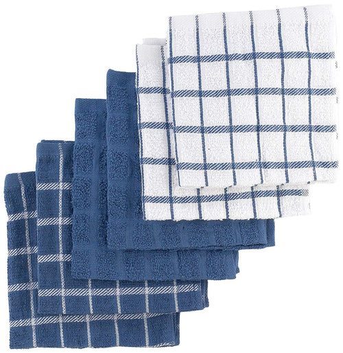 "Ritz 100% Terry Cotton, Highly Absorbent Dish Cloth Set, 12"" x 12"", 6-Pack, Federal Blue"
