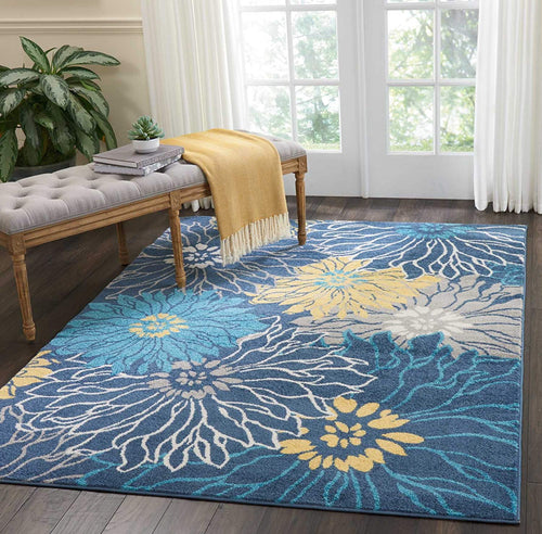 "Nourison PSN17 Passion Area Rug, 5'3"" x7'3, BLUE"