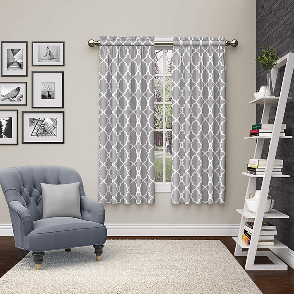 Pairs to Go 15617056X063GRY Vickery 56-Inch by 63-Inch Window Curtain Pair, Gray