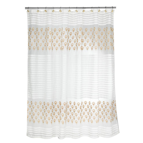 Popular Bath 843910 Seraphina Shower Curtain,Ivory
