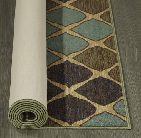 "Ottomanson Studio Collection Squares Design Area Rug, 3'3"" X 5'0"", Multicolor"