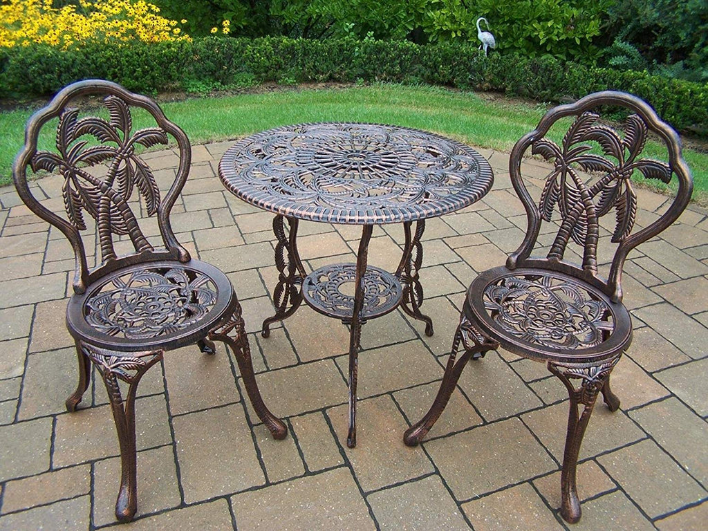 Oakland Living 3-Piece Palm Tree Bistro Set